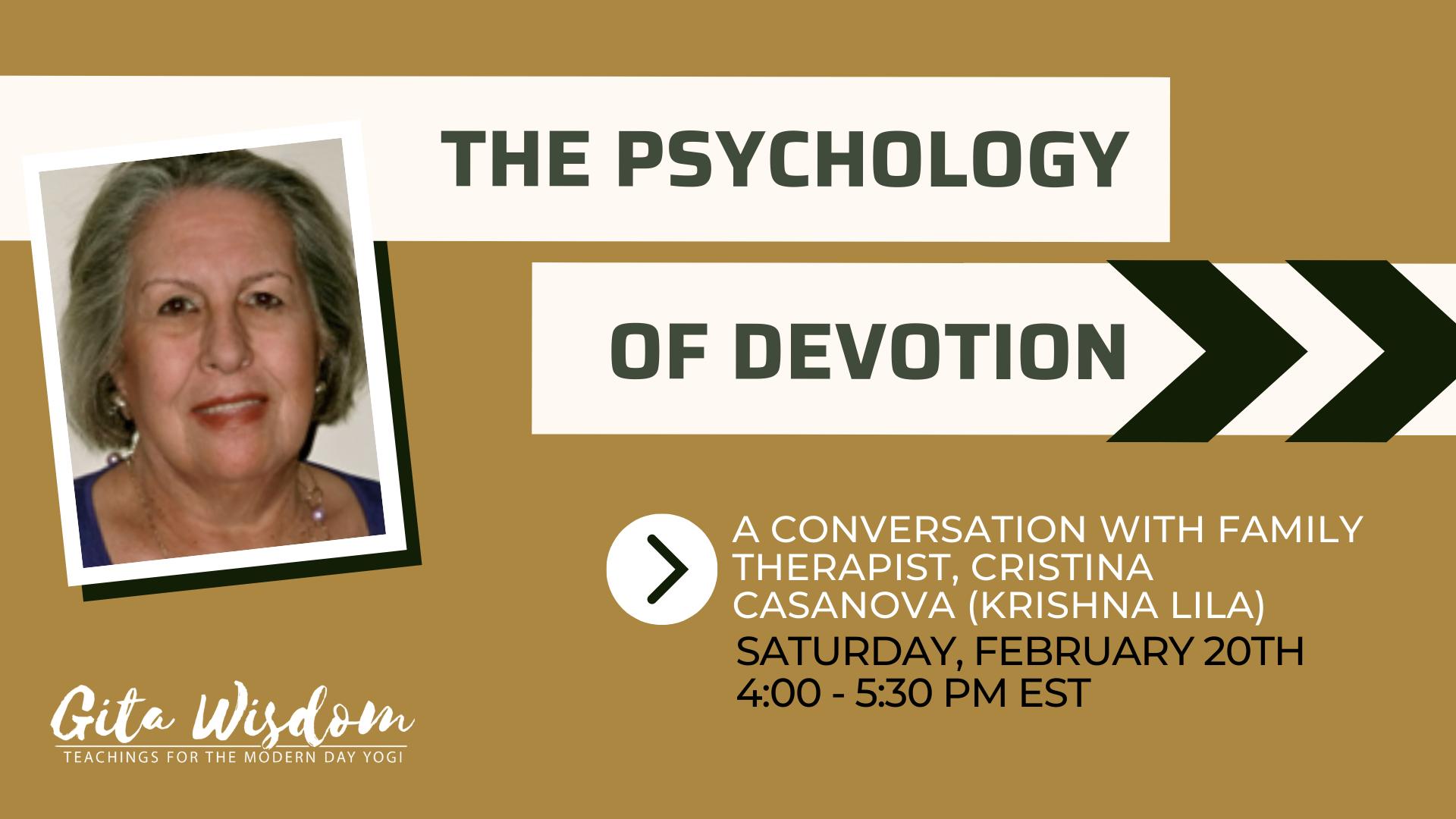Promo for Psychology of Devotion