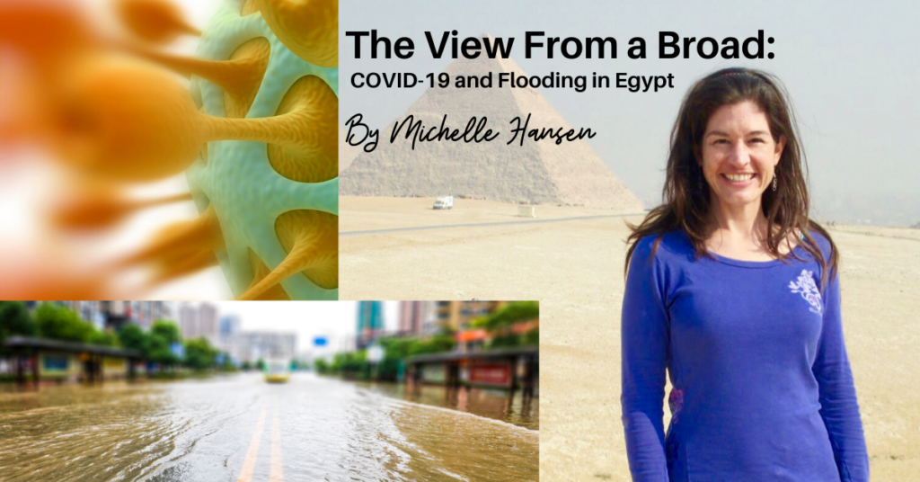 The View From a Broad – COVID-19 and Flooding in Egypt