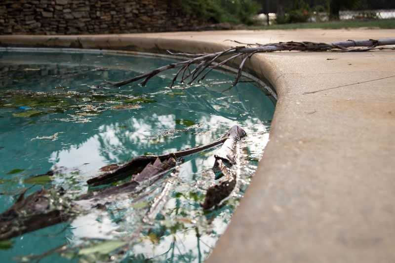 Pool after the storm