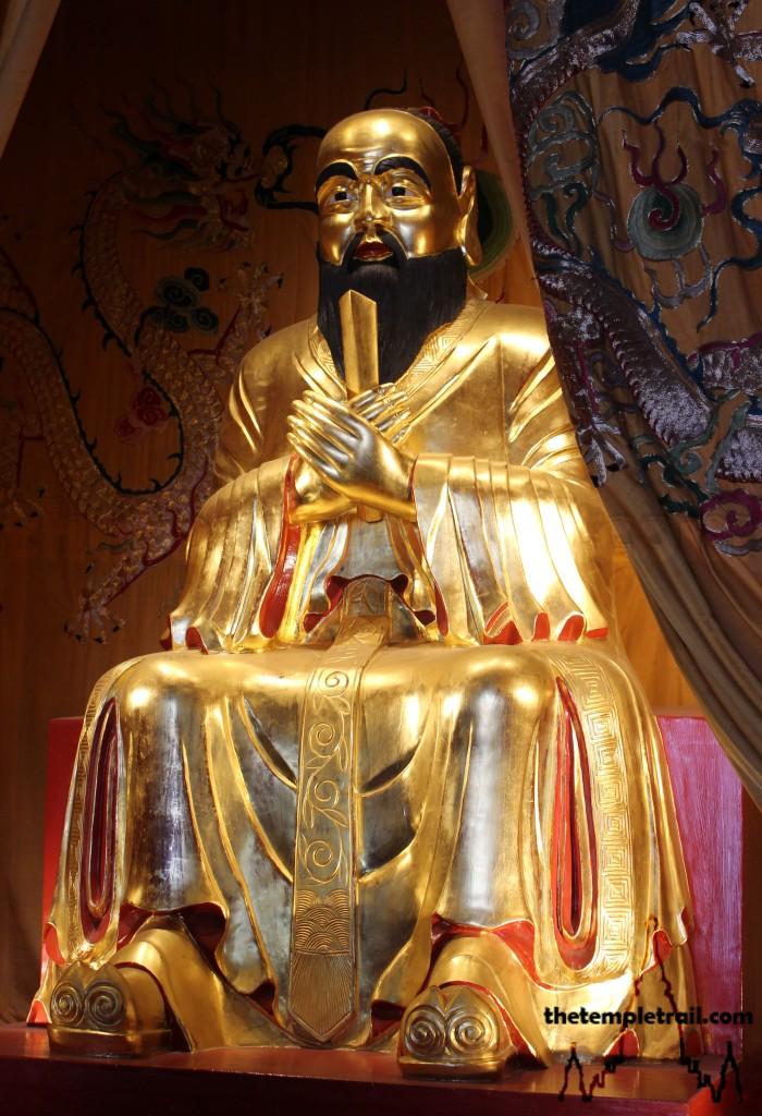 Wen Miao Golden Statue of Confucius