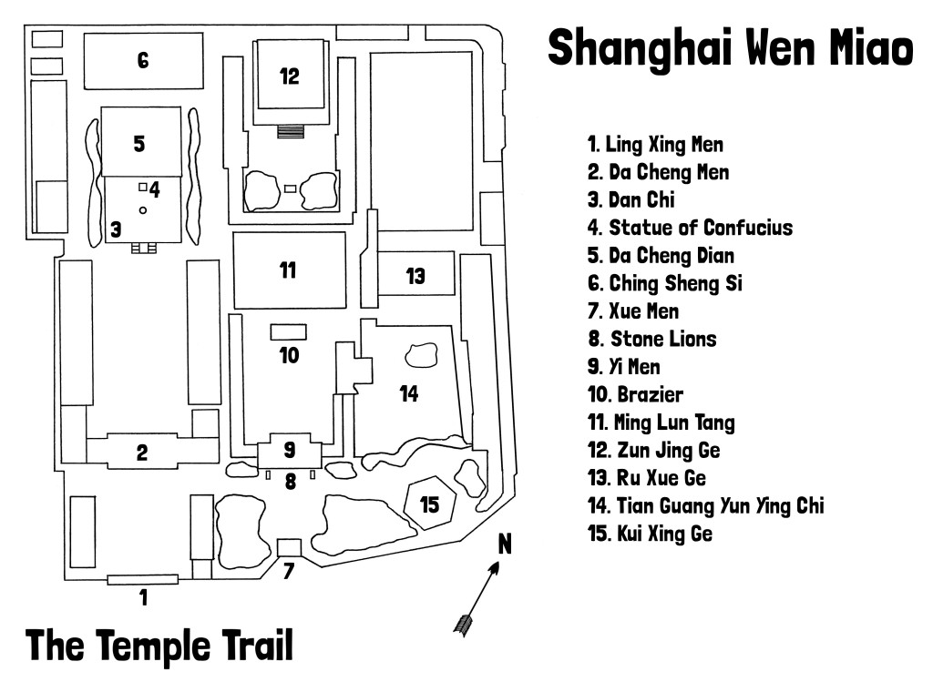 Map of Shanghai Wen Miao