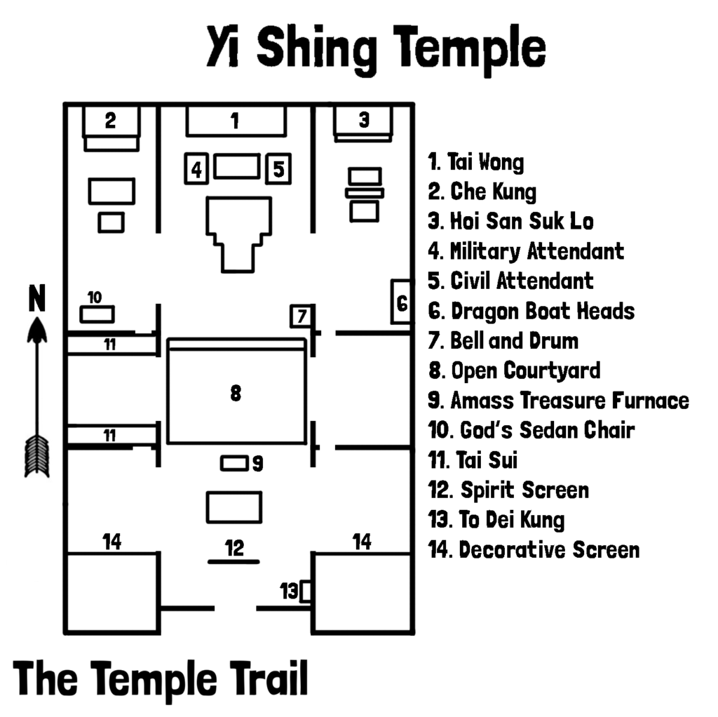 Yi Shing Temple Map
