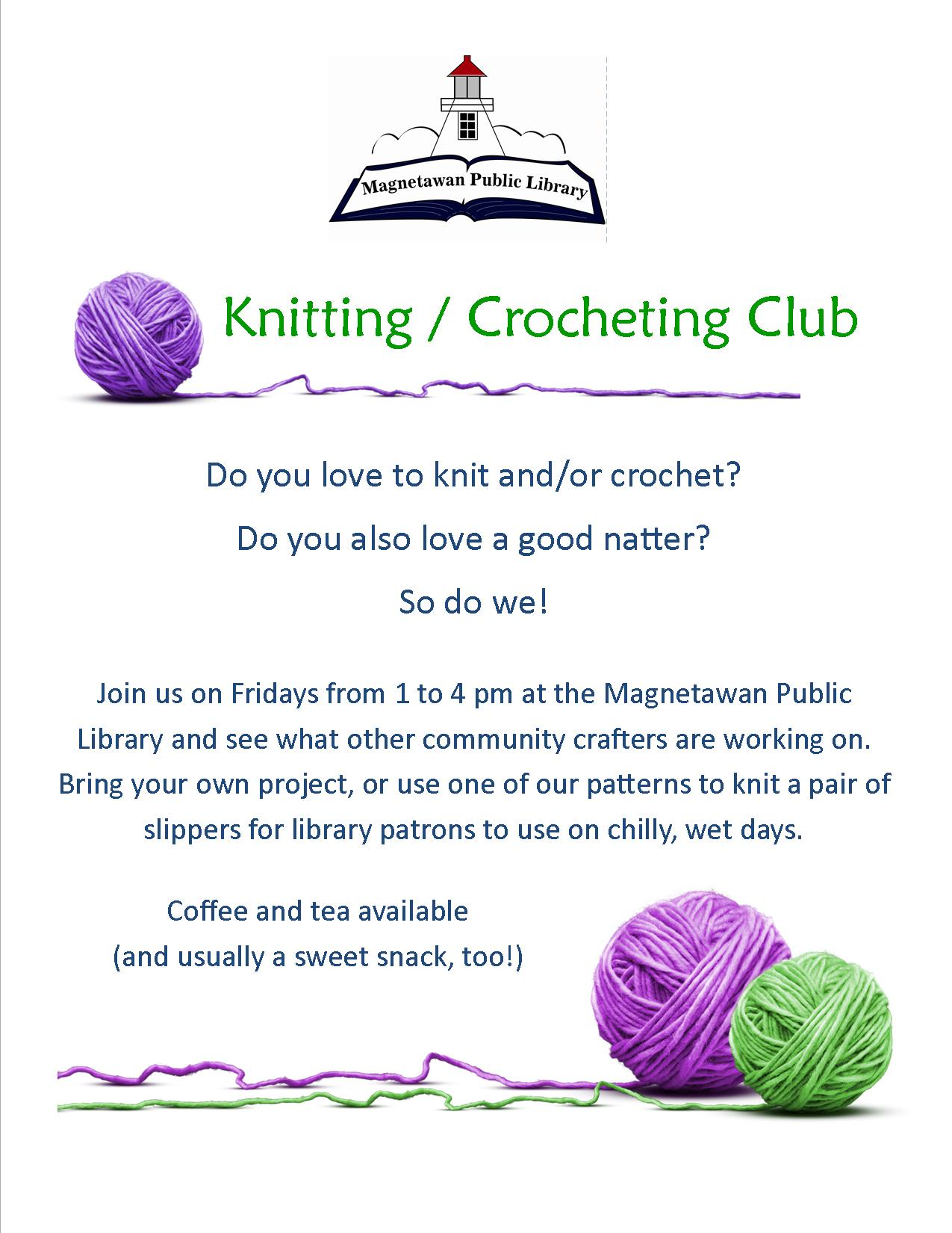 Poster: Knitting/Crocheting Club