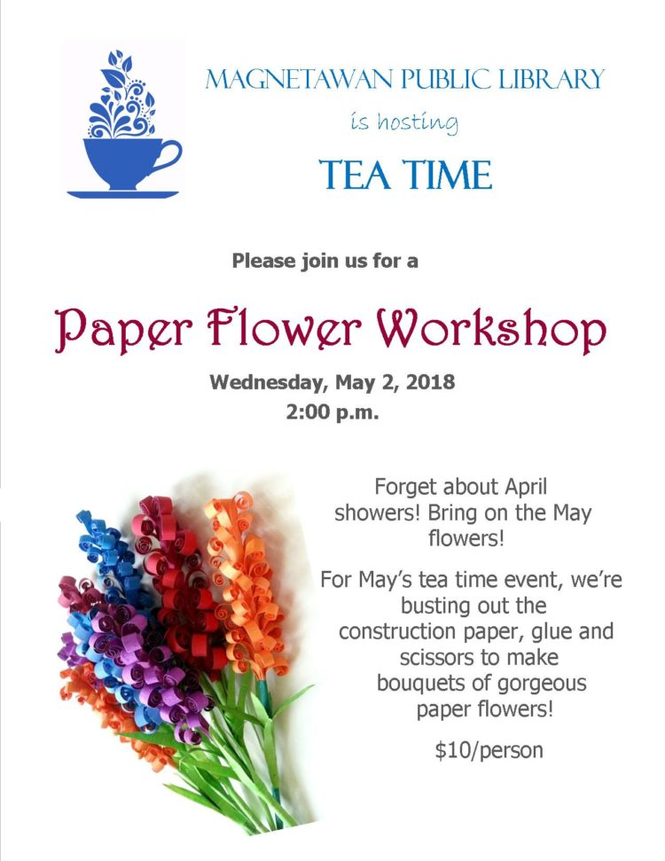 Poster for Paper Flower Workshop