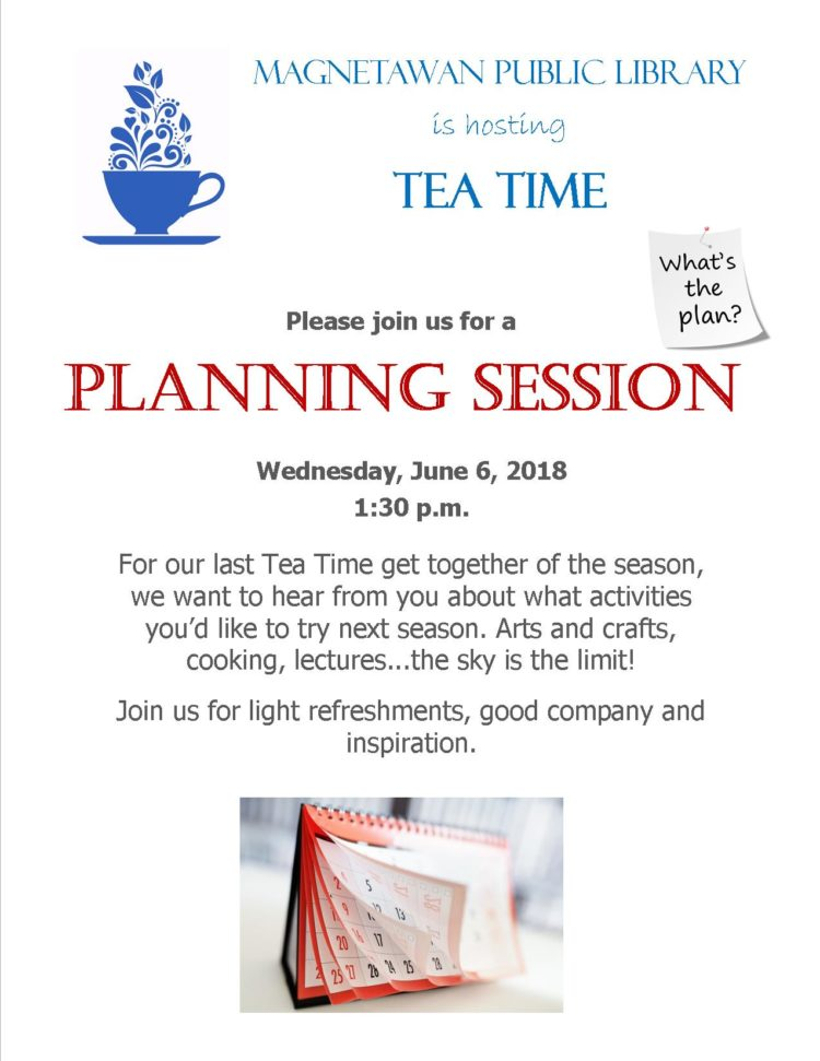 Tea Time Planning Session Poster