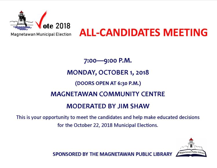 Magnetawan Municipal Election All-Candidates Meeting poster
