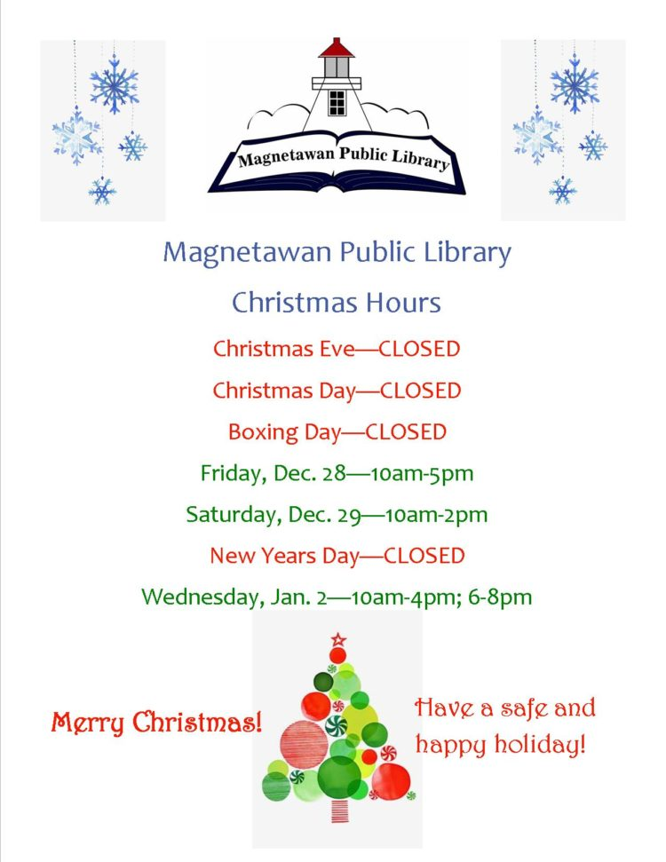 Christmas hours poster