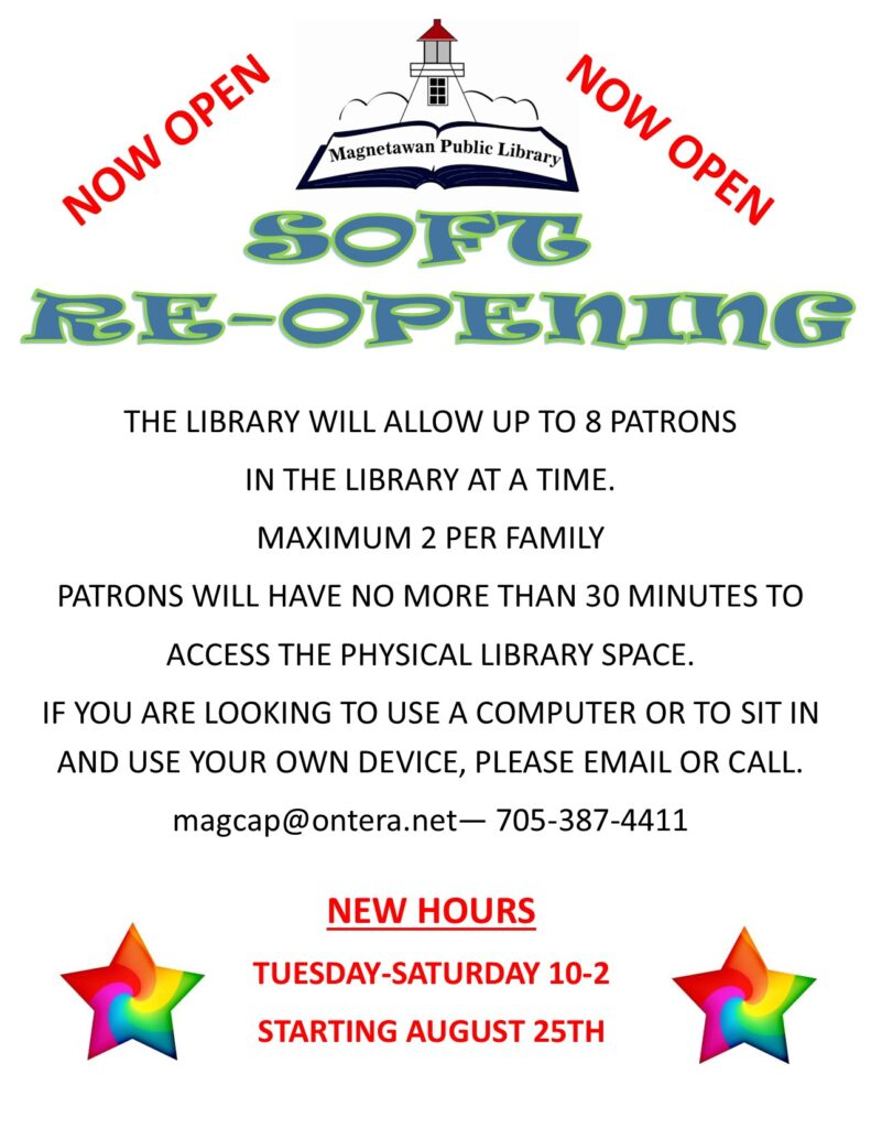 Message to patrons regarding new library hours