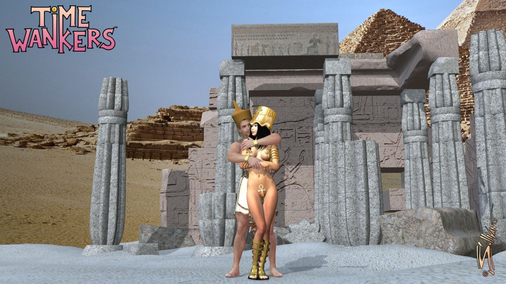 John & Meiko, the Time Wankers, take a little bit of relaxation time in Ancient Egypt.