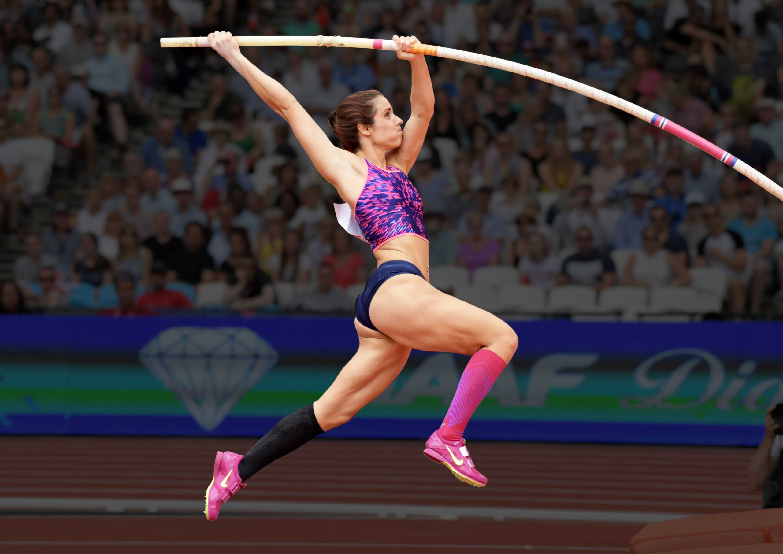 Greek National Pole Vault Record Holder and Olympic Champion vaulting with Spirit Vaulting Poles