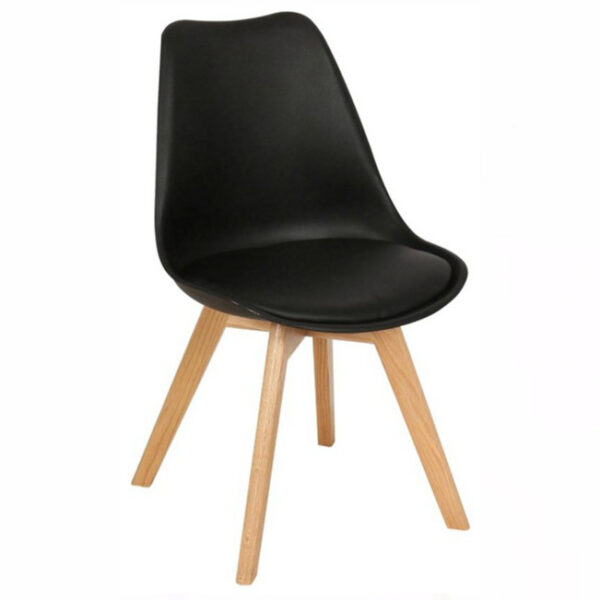 Silla Eames Tulip Cross Wood Negra