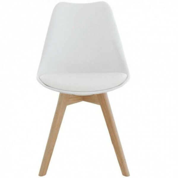 Silla Eames Tulip Cross Wood Blanca