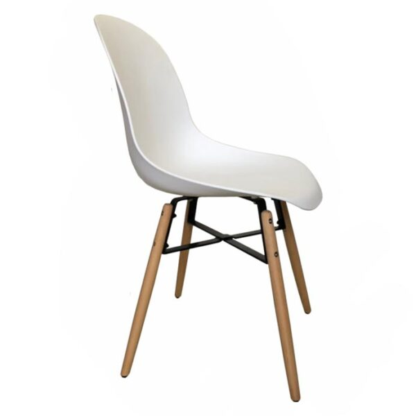 Silla Eames Cross Steel Blanca