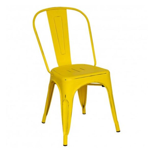 Silla Tolix Vintage Antique Amarillo