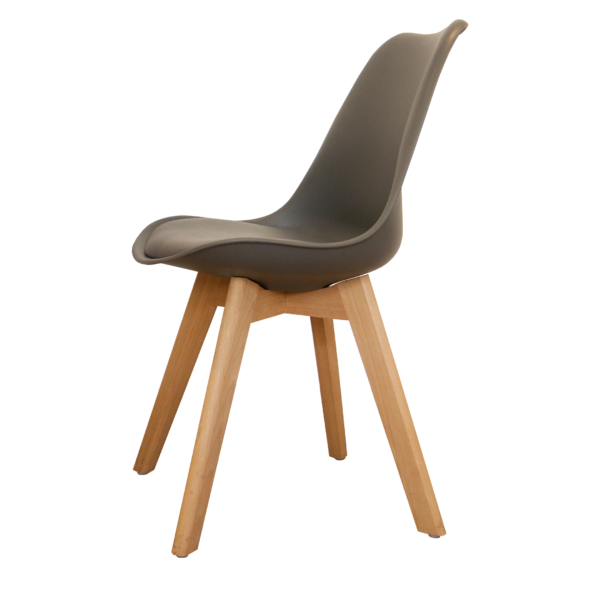 Silla Eames Tulip Cross Wood Gris