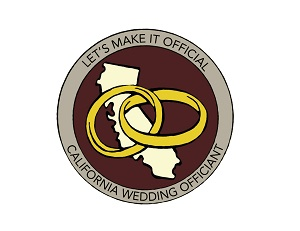 California Wedding Officiant Logo. Let's Make it Official!