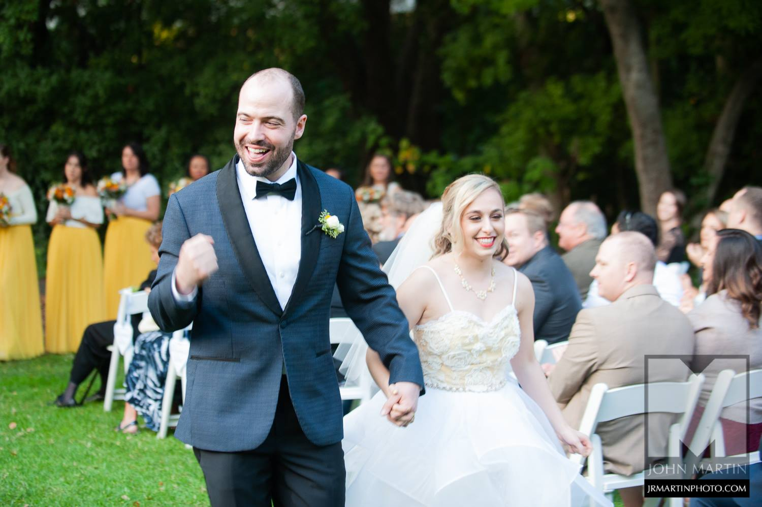 A photo of a couple celebrating their marriage Berkeley Faculty Club