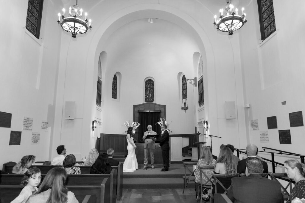 A photo of a Presidio Chapel Wedding in San Francisco CA