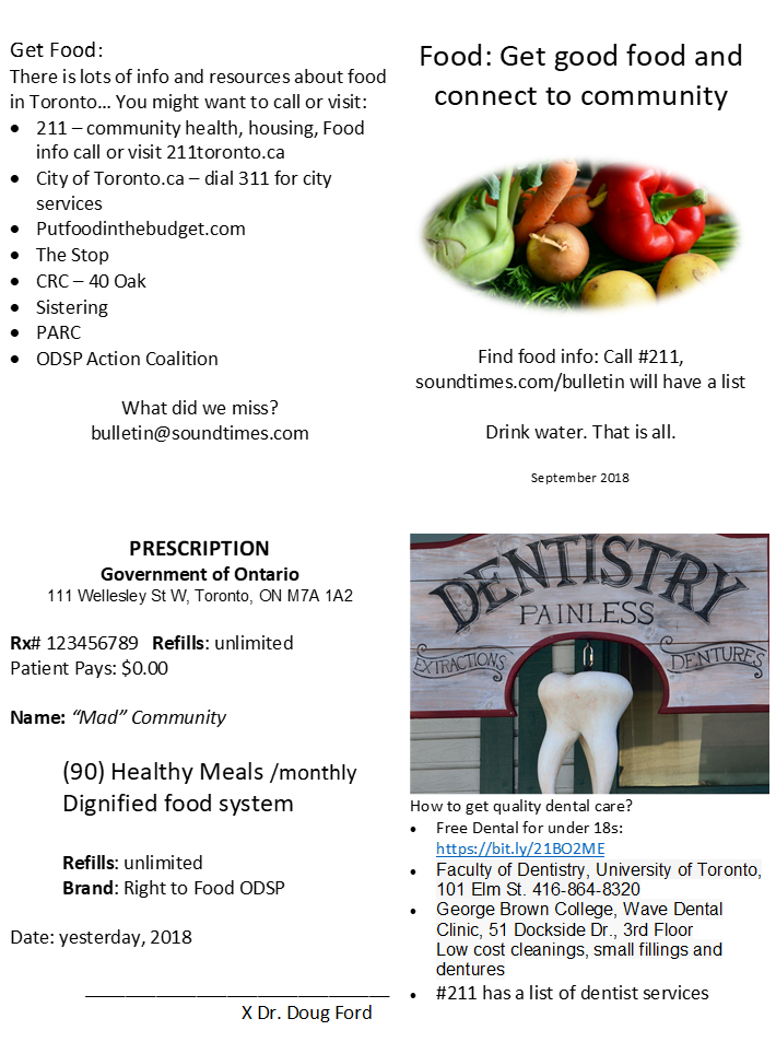 Food Booklet Page 1 example