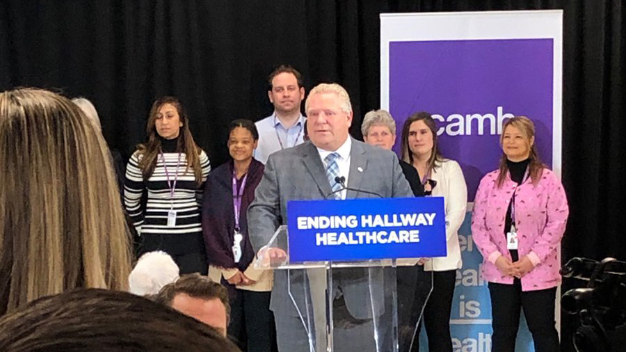Premier Doug Ford announces funding at CAMH