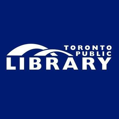 Toronto Public Library Logo with two arches over the word library.