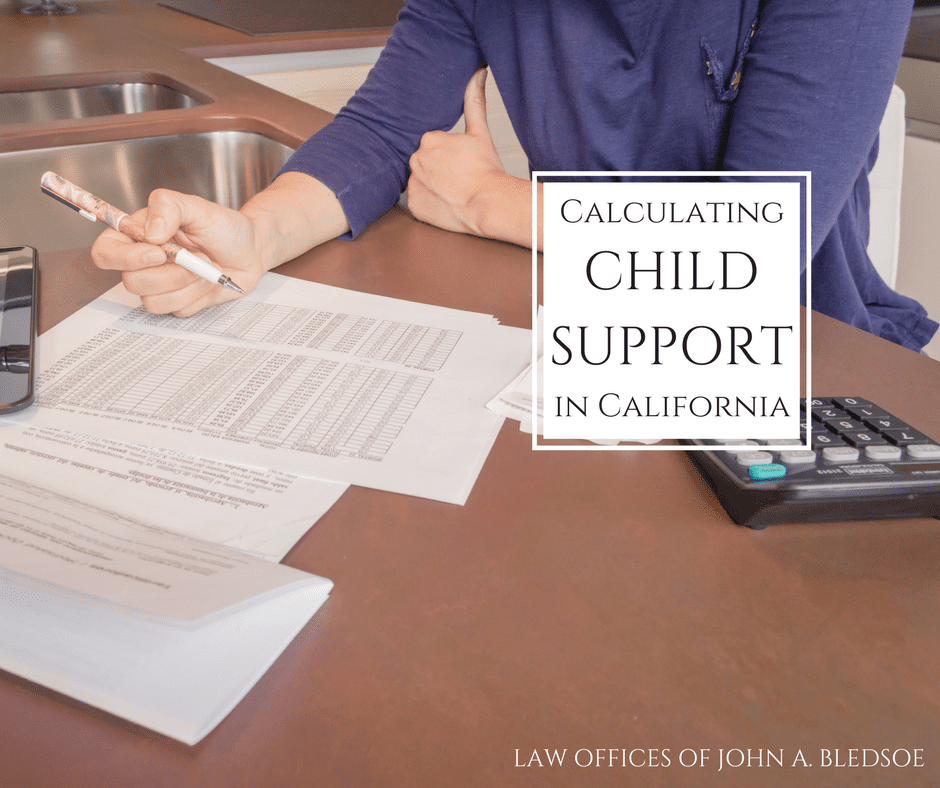 how much is child support in California