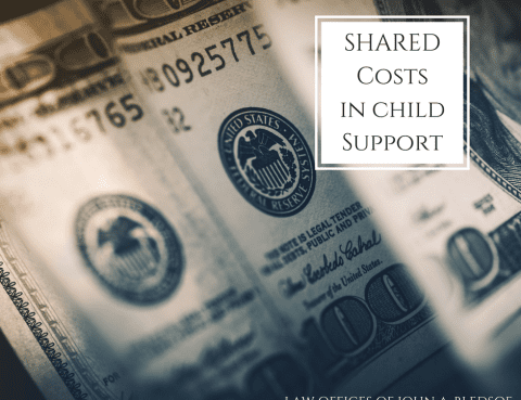 Shared Costs in California Child Support