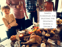 Sample schedules for splitting the holidays