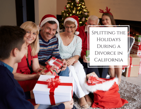 Splitting the Holidays During A Divorce in California