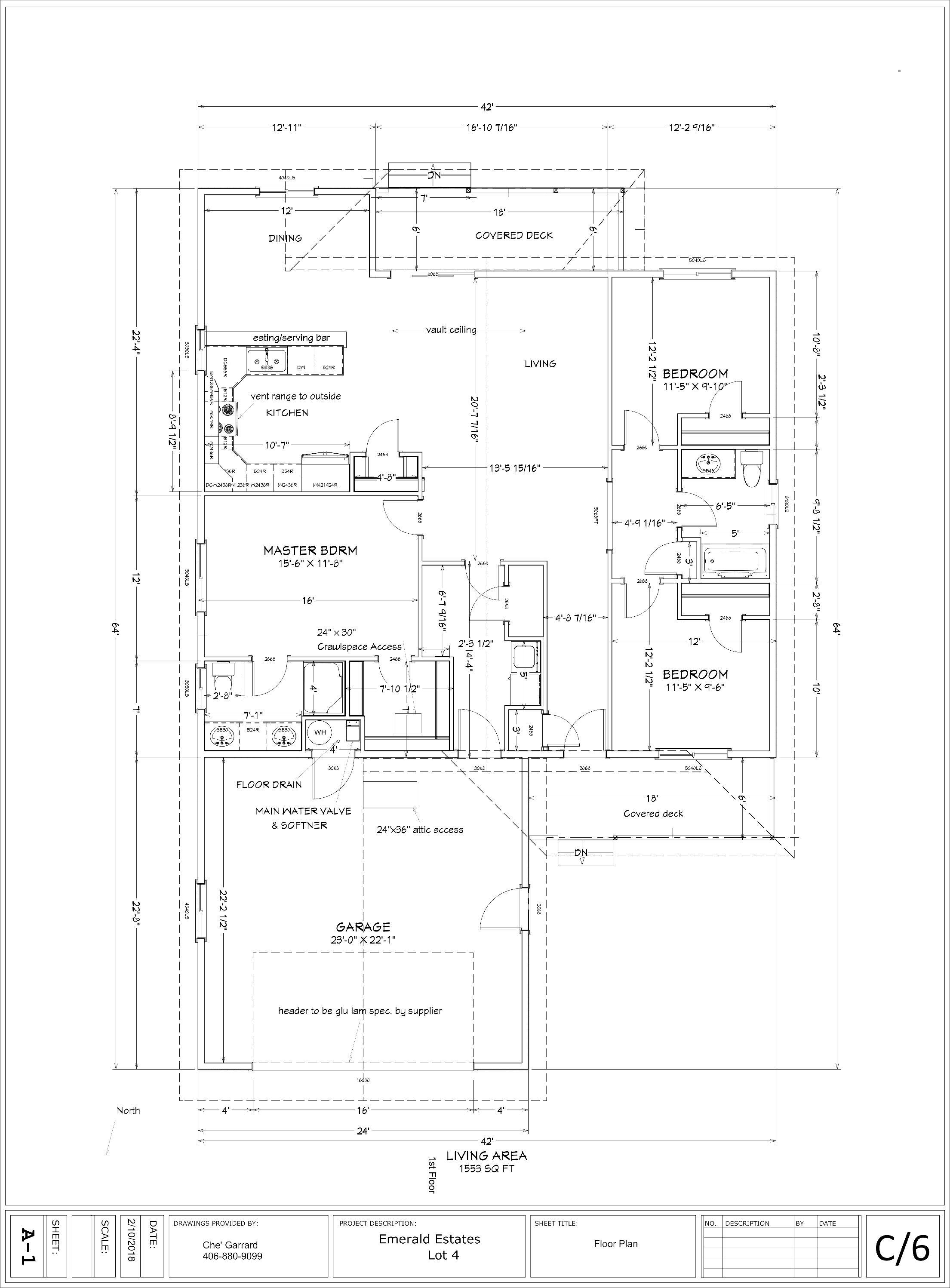 Lot 1 & 4 floorplan