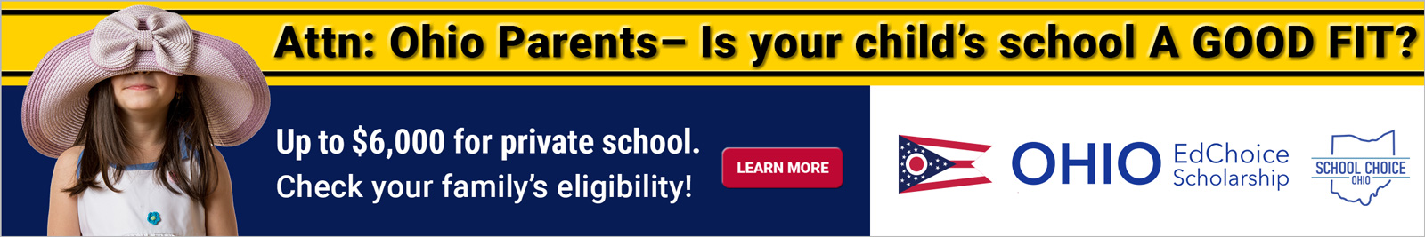Is your child's school a good fit? EdChoice Scholarship 2021 — Get up to $6,000 for private school. Quickly check your family's eligibility!