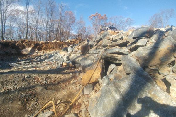 foundation hole excavation blasting nj