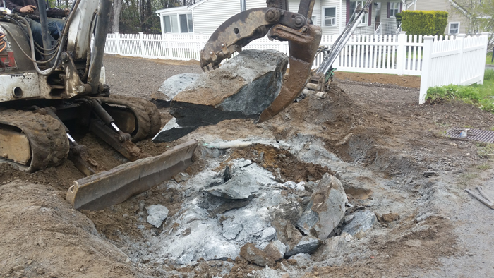 hydraulic rock splitting blasting nj