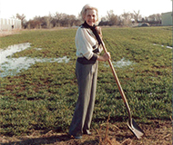 Claire Newman ground breaking new facility for Joe's Hand Cleaner