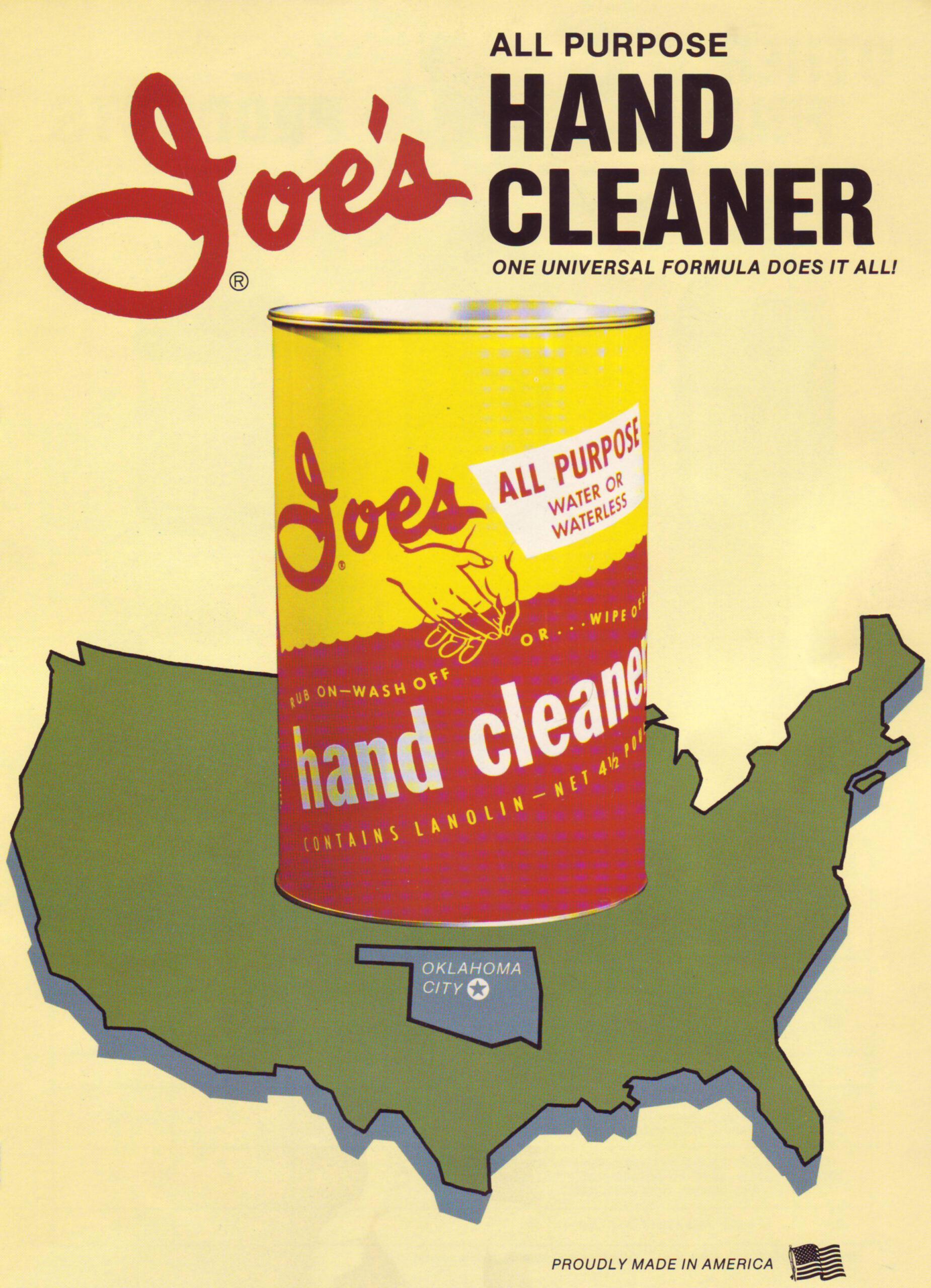 Joe's All Purpose Hand Cleaner Original Metal Can