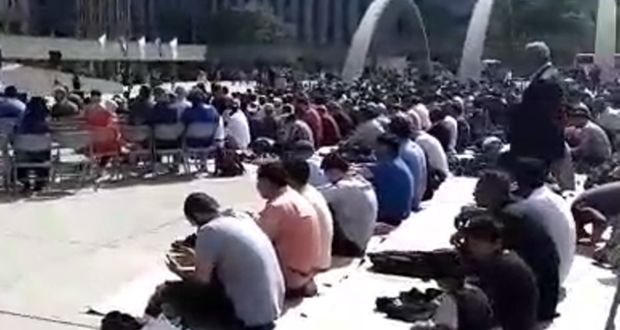 Muslim prayer recited at Toronto City Hall's plaza
