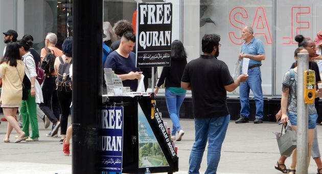 """Scantily clad woman """"wants attention and possibly much more"""" – Toronto Islamic booth"""