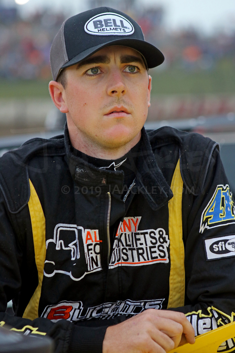 Kye Blight, of Katanning, Western Australia, makes his first attempt at the World 100 at Eldora Speedway in Rossburg, Ohio.