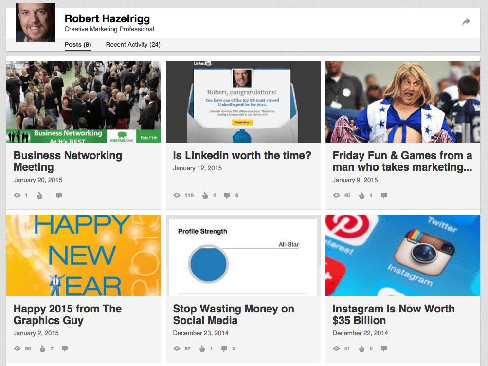Robert Hazelrigg's Linkedin Posts