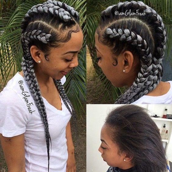 grey braids 9