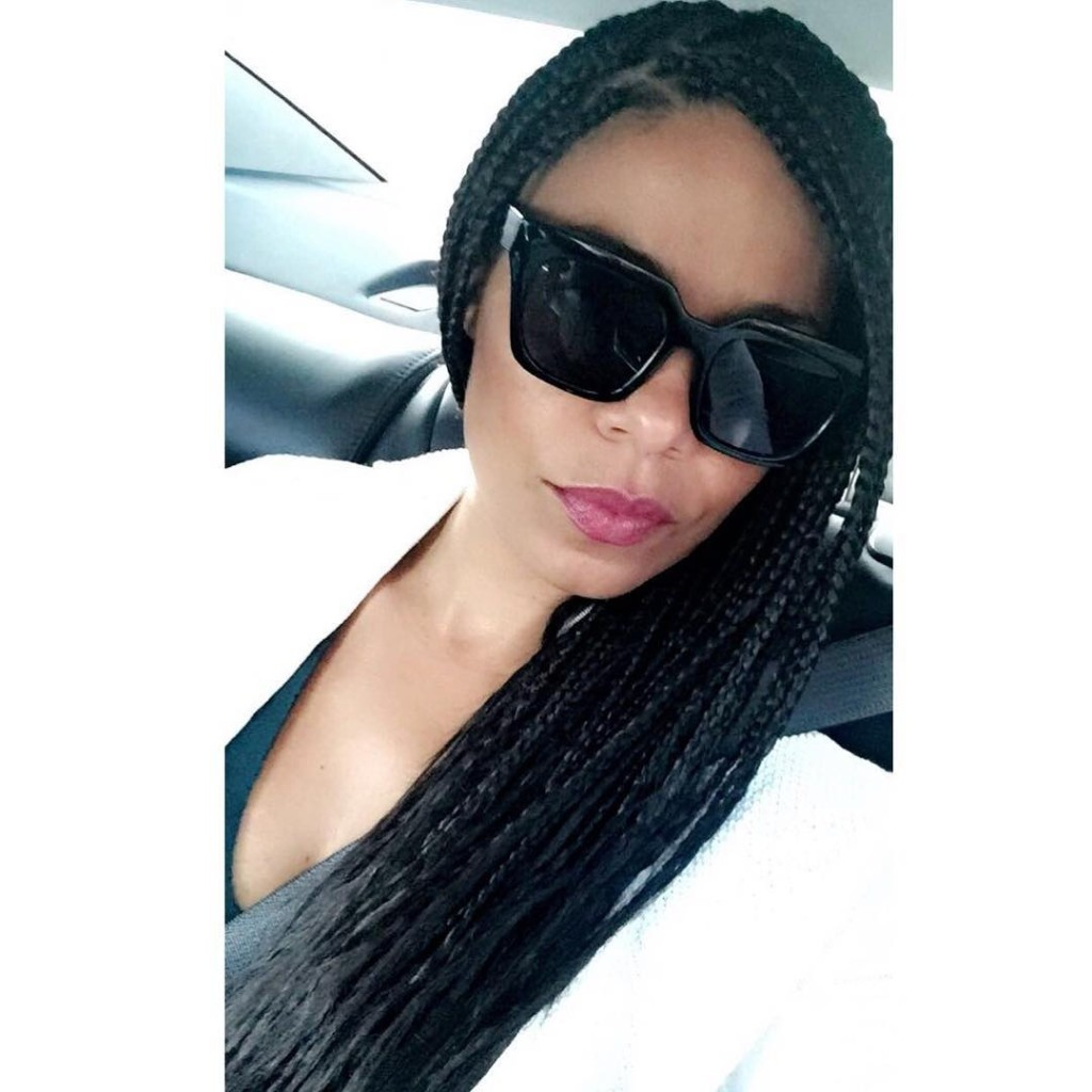 Sanaa Lathan in box Braids