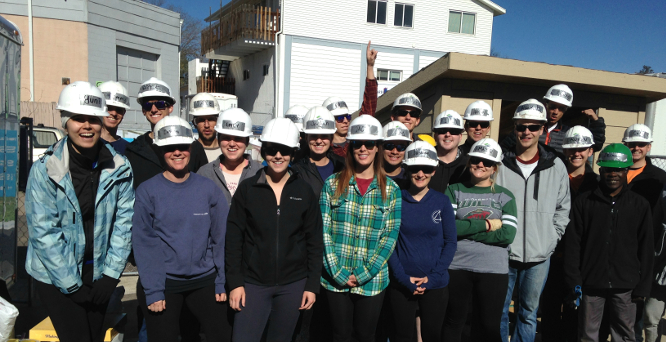 Volunteer work for Habitat for humanity - our culture
