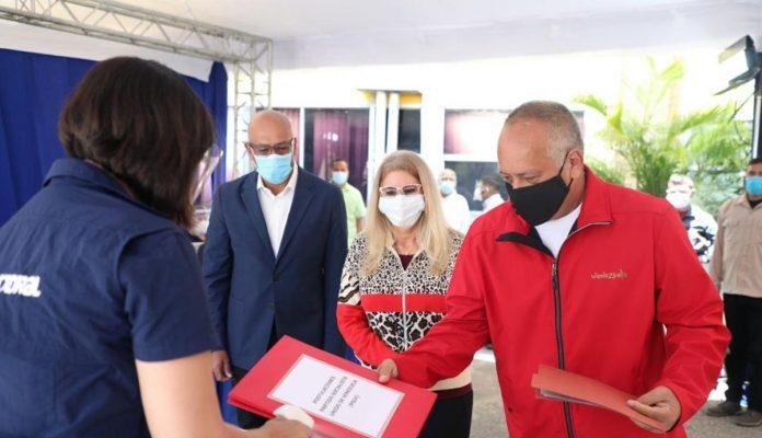 Cilia Flores, Diosdado Cabello Y Jorge Rodríguez Presentaron Ante El CNE Las Candidaturas Del Chavismo