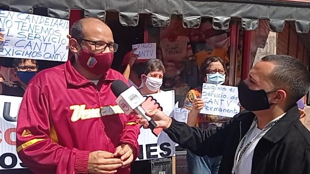 Protestan En La Candelaria Por Las Eternas Fallas De Cantv Y Masivos Apagones Durante Cuarentena