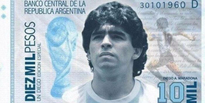 ¡Lo último! Proponen Imprimir Billetes Con La Cara De Maradona