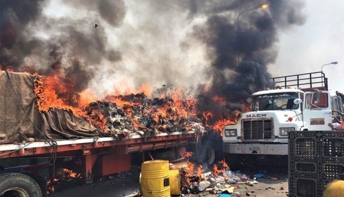 Dos Años Del Incendio De La Ayuda Humanitaria: La Metáfora De Un País Que Aún Clama Por El Ingreso De Medicinas Y Alimentos