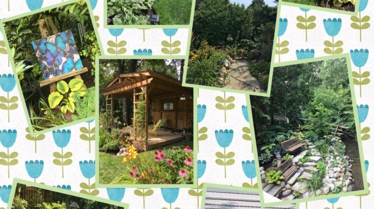 collage of garden photos