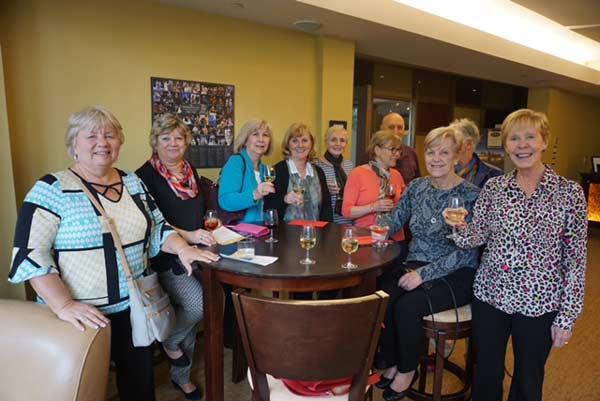 Members enjoying the Stratford Guys & Dolls excursion