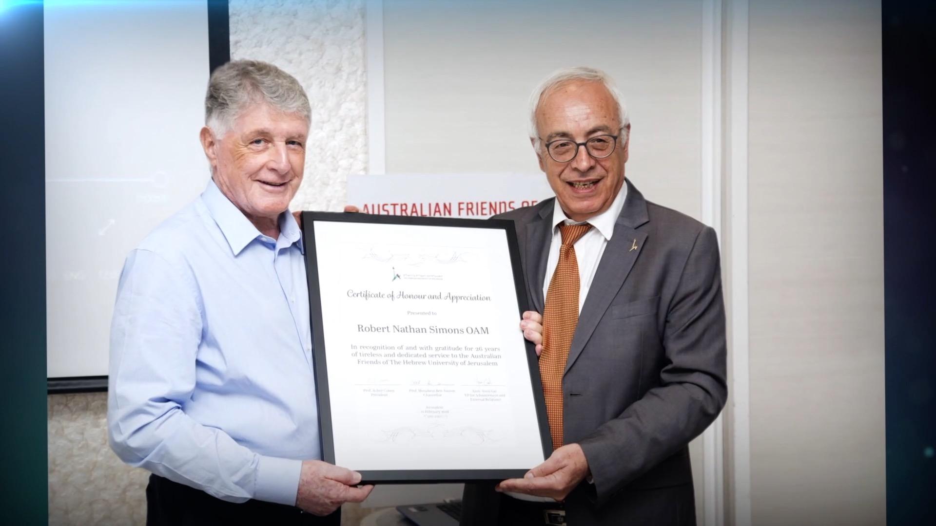 Honorary Doctorate - Robert Simons