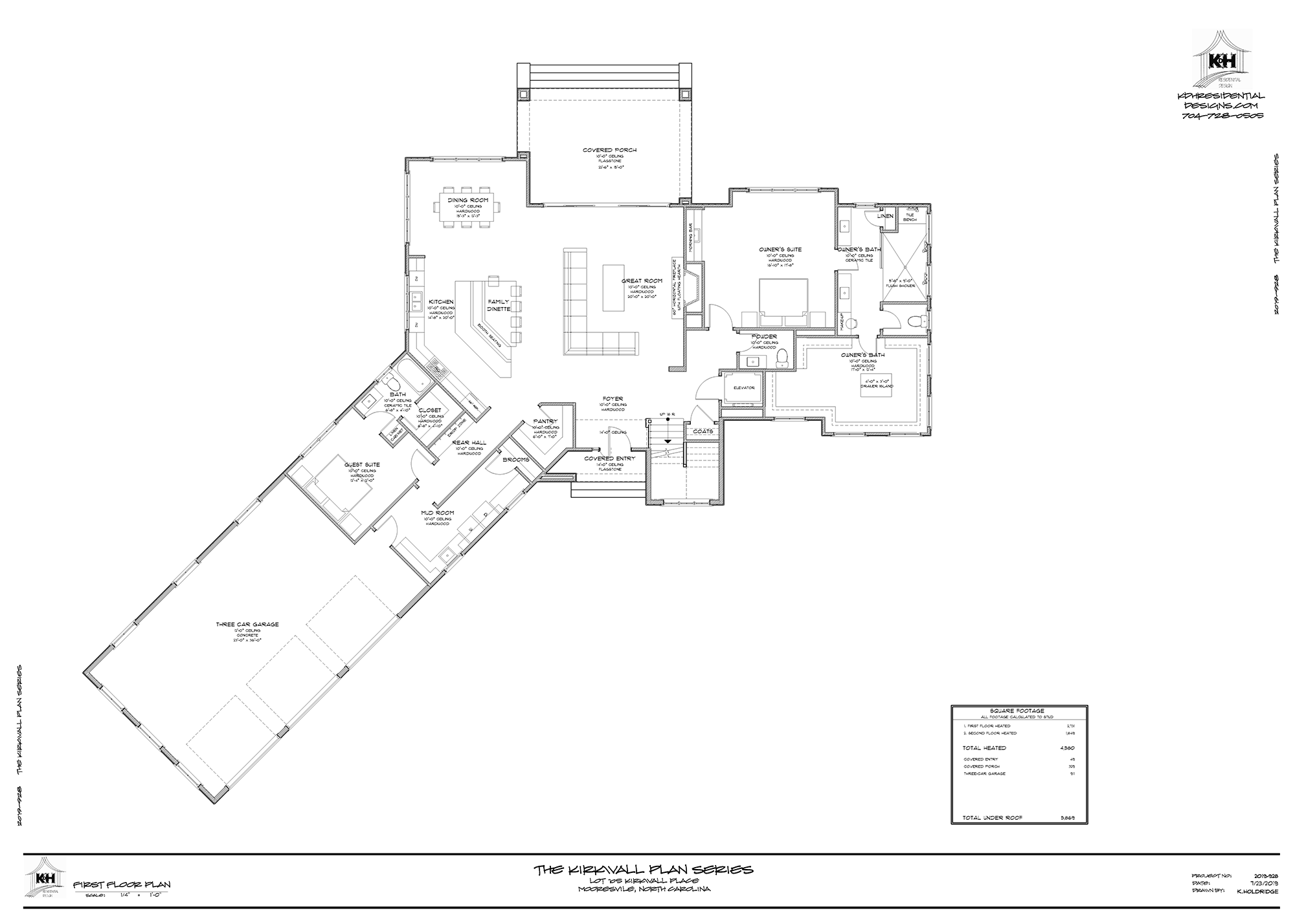 Plan for Proposed Home (Main Level)